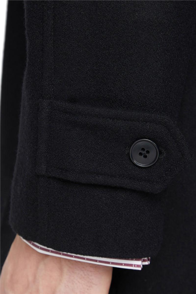 Black Roma Overcoat