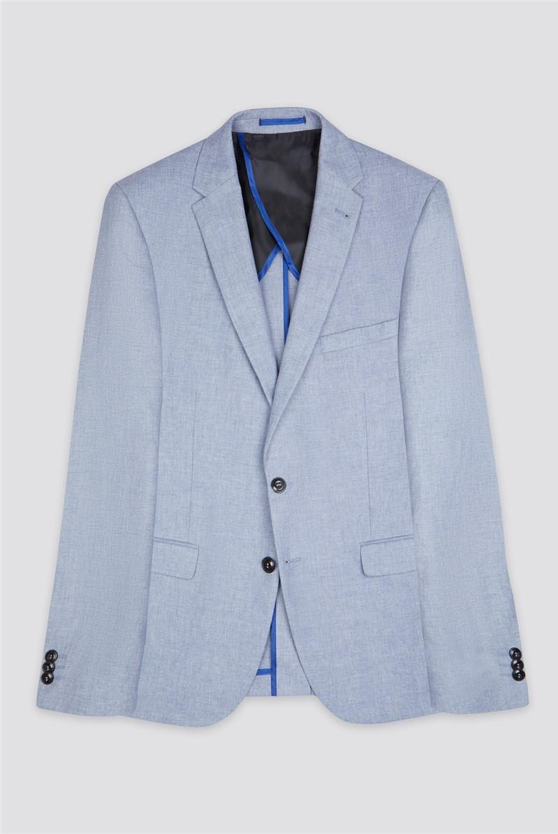 Pale Blue Chambray Camden Fit Suit Trouser