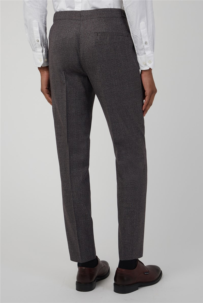 Burnt Red Puppytooth Camden Fit Suit