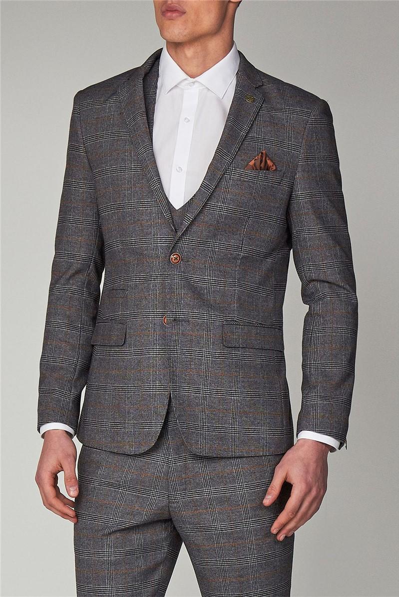 Marc Darcy Jenson Grey Check Suit Jacket