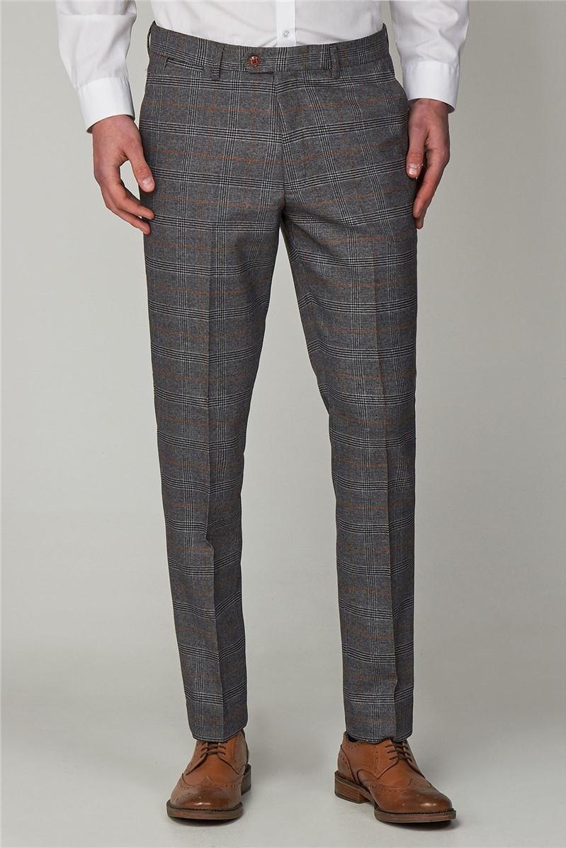 Jenson Grey Check Suit Trouser