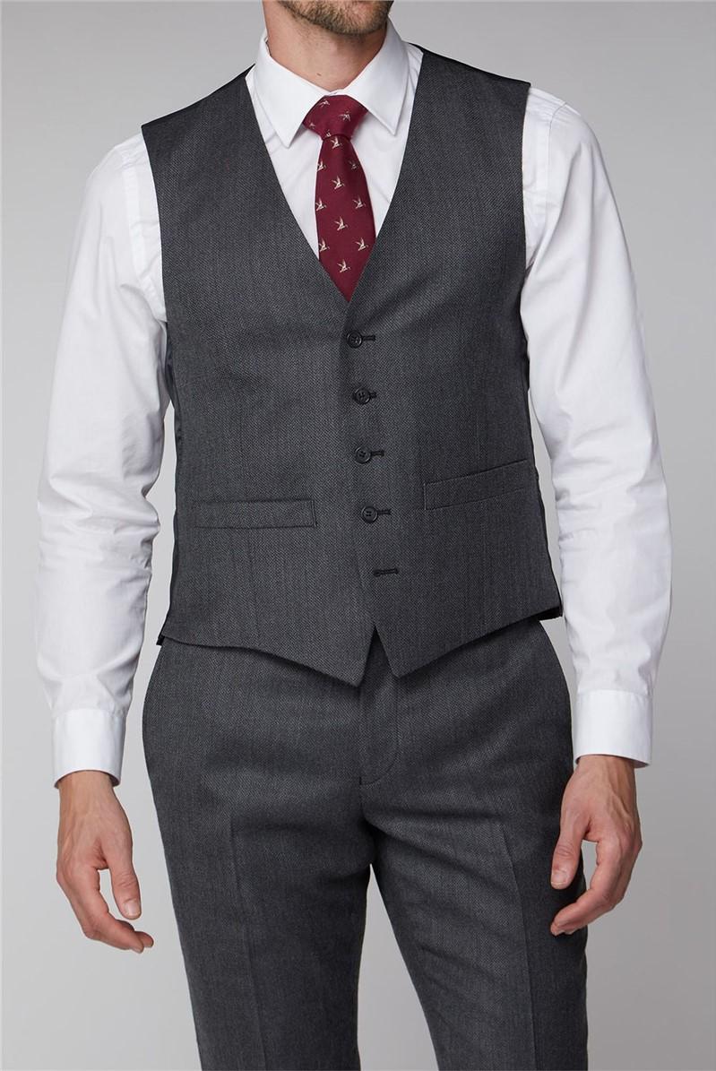 Light Grey Texture Suit Waistcoat