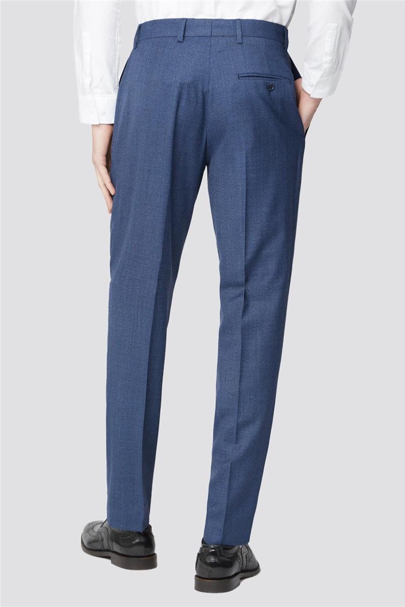 Bright Blue Texture Slim Fit Suit Trouser