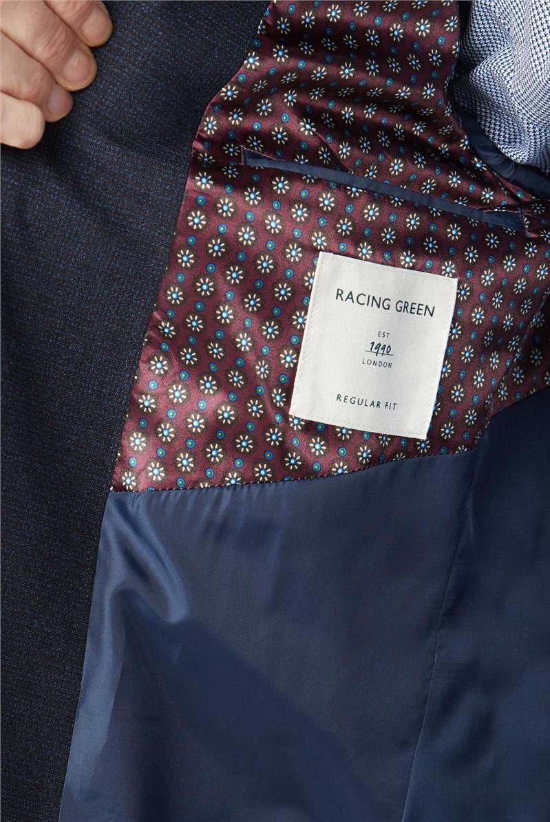 Deep Blue Texture Slim Fit Suit Trouser