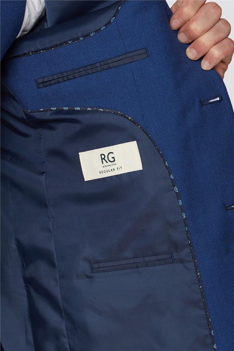 Blue Semi Plain Tailored Fit Suit Trouser