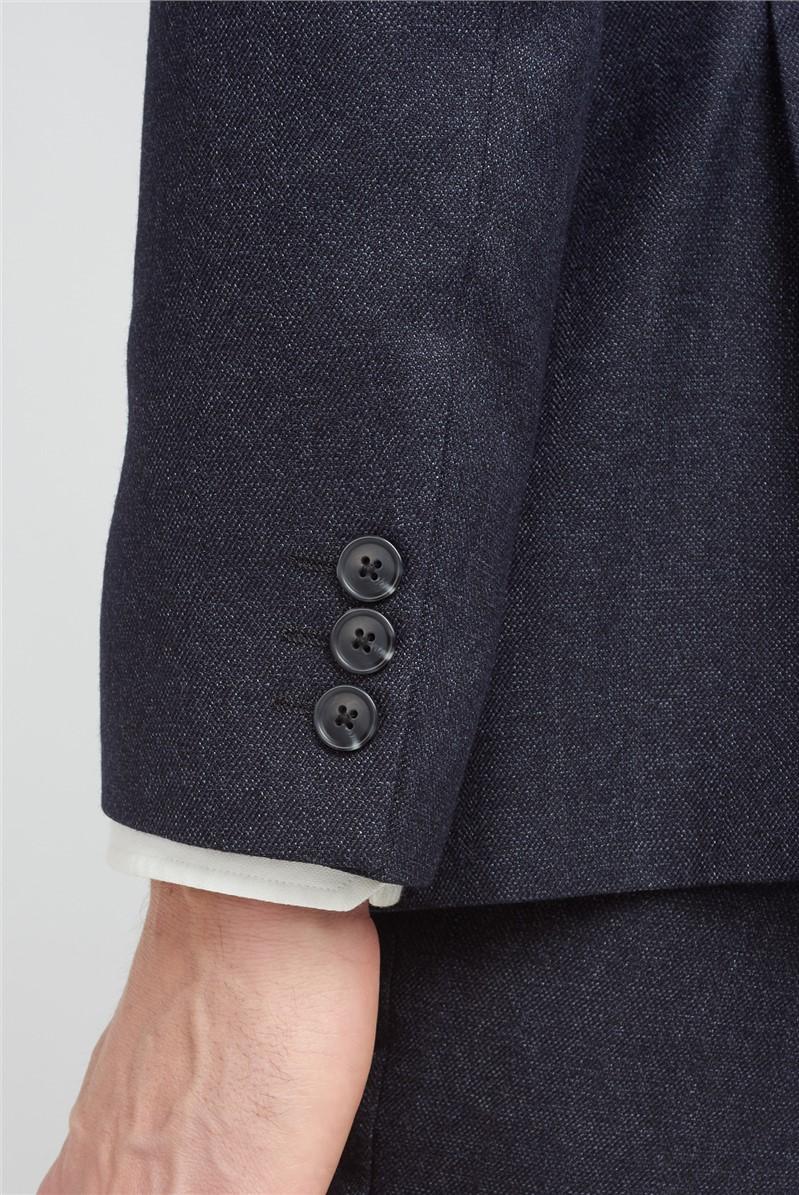 Charcoal Semi Plain Tailored Fit Suit