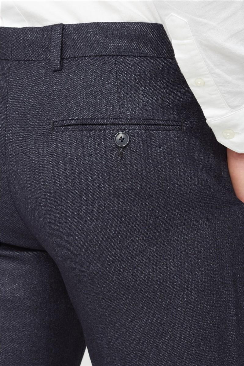 Charcoal Semi Plain Tailored Trouser