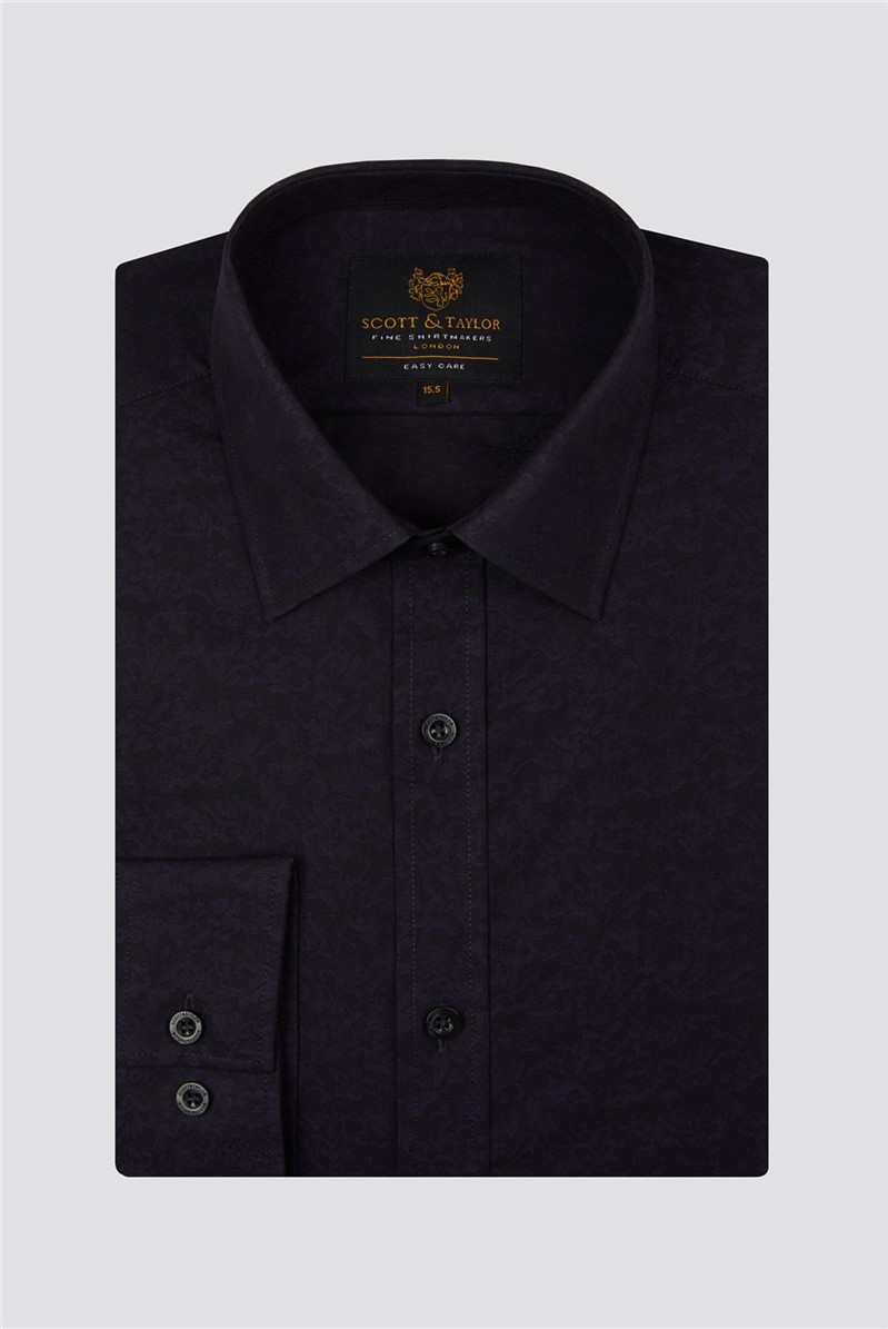 Scott & Taylor Scott & Taylor Purple Jacquard Shirt