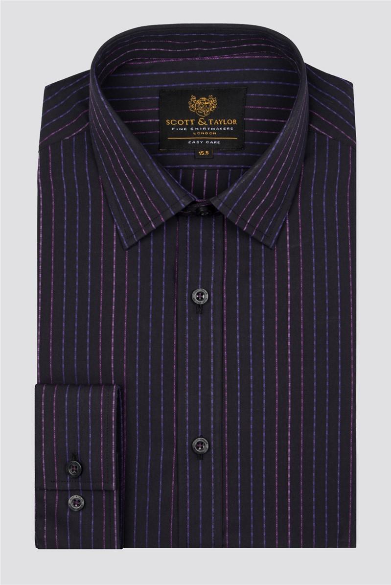 Black Tonal Stripe Shirt