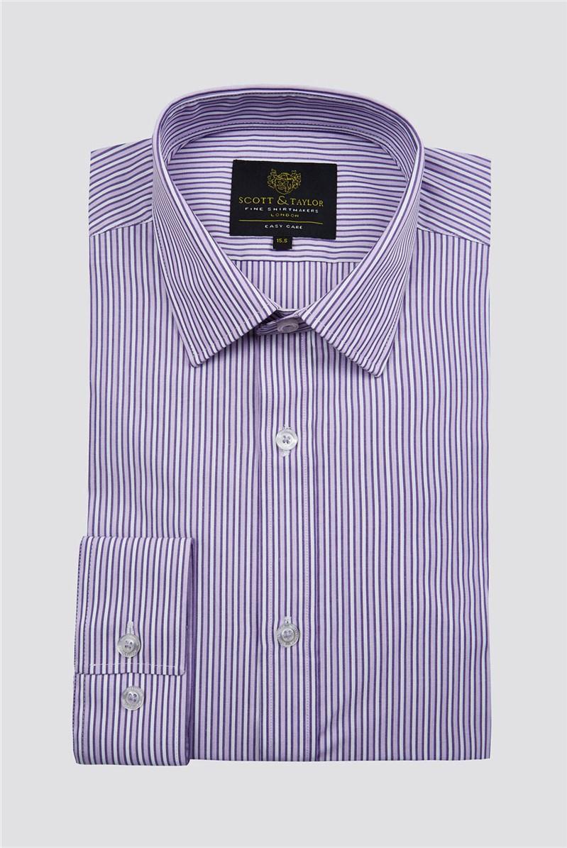 Lilac Edged Stripe Shirt
