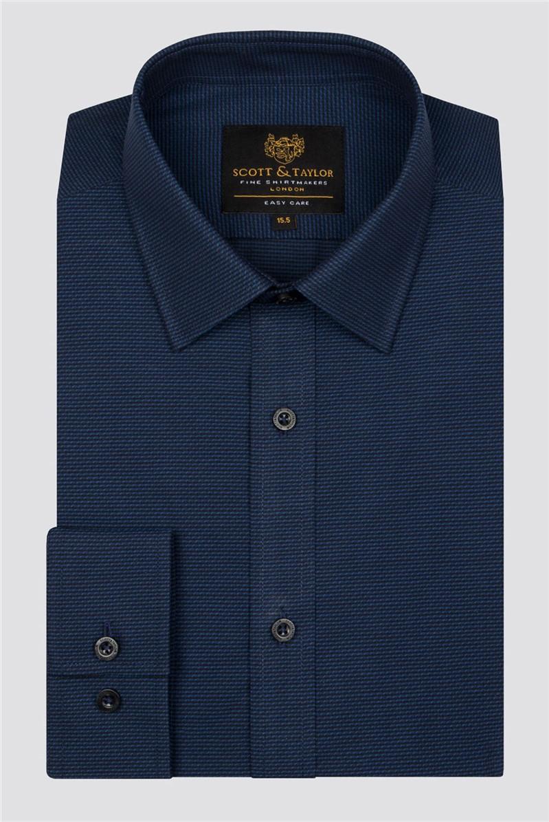 Navy Dobby Shirt