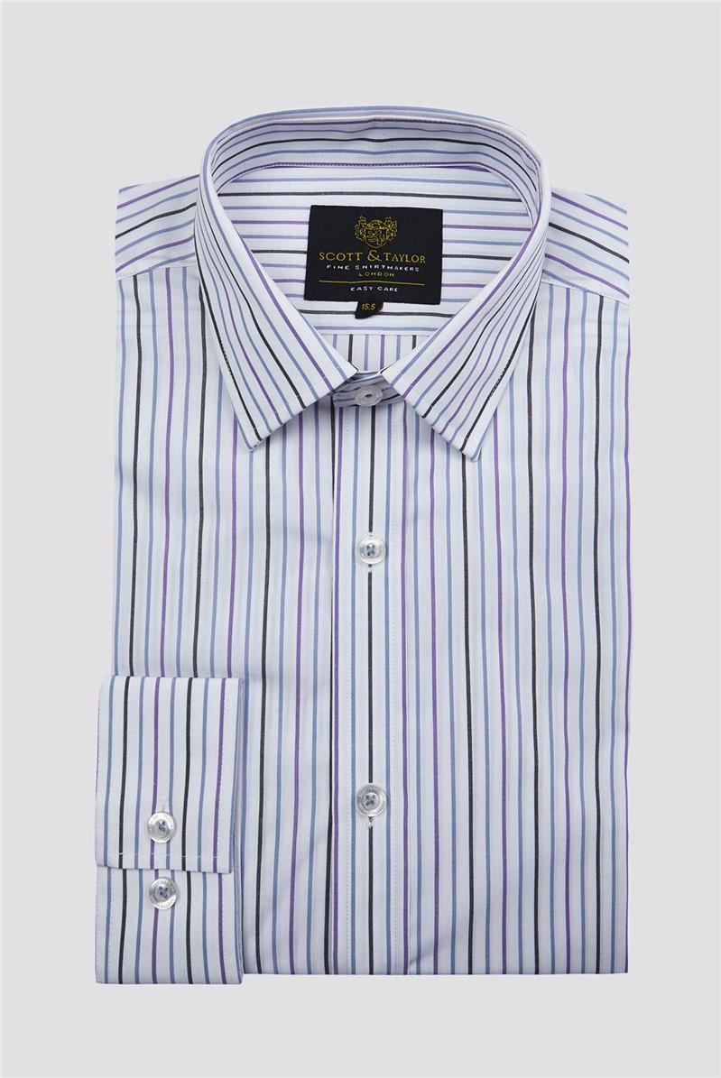 White Alternate Stripe Shirt
