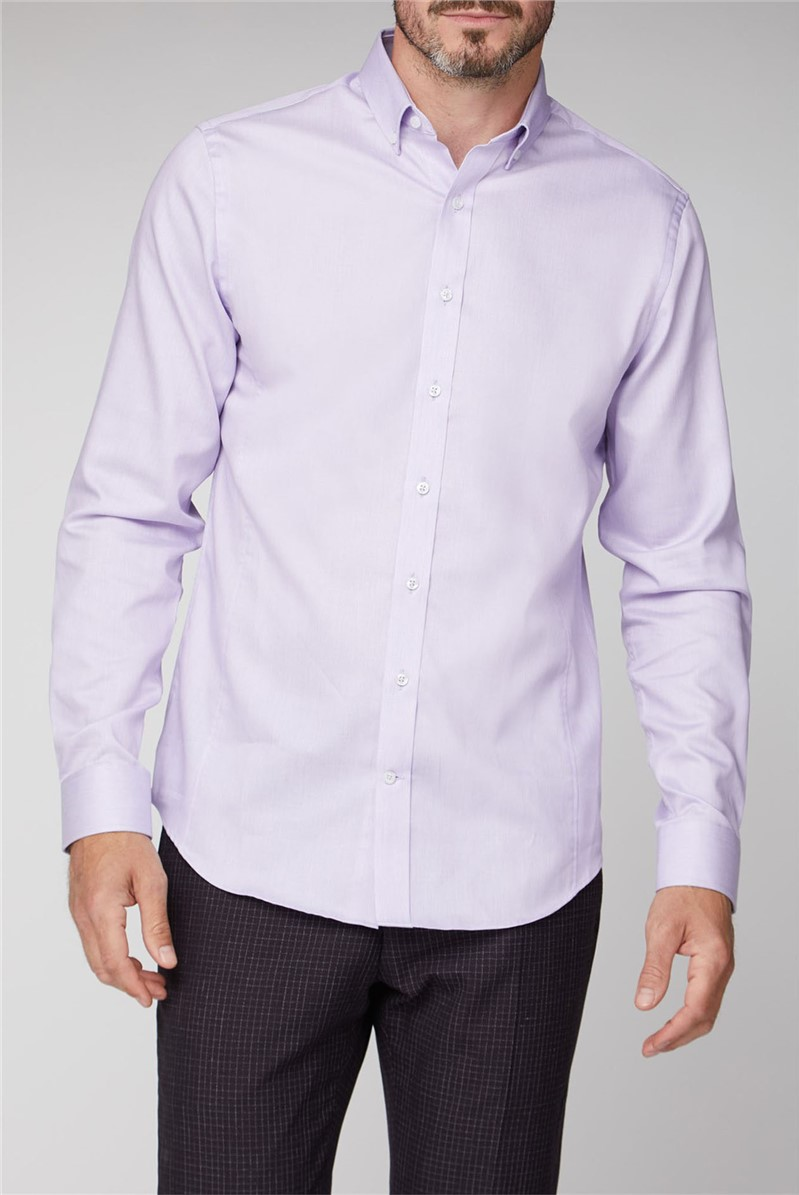 Brit Lilac Semi Plain Stripe Shirt