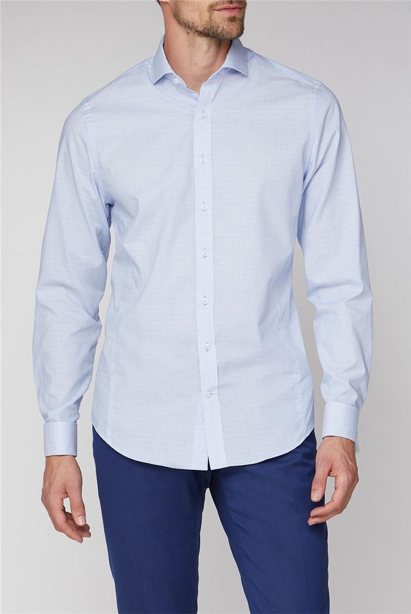 Brit Blue Dobby Stripe Shirt