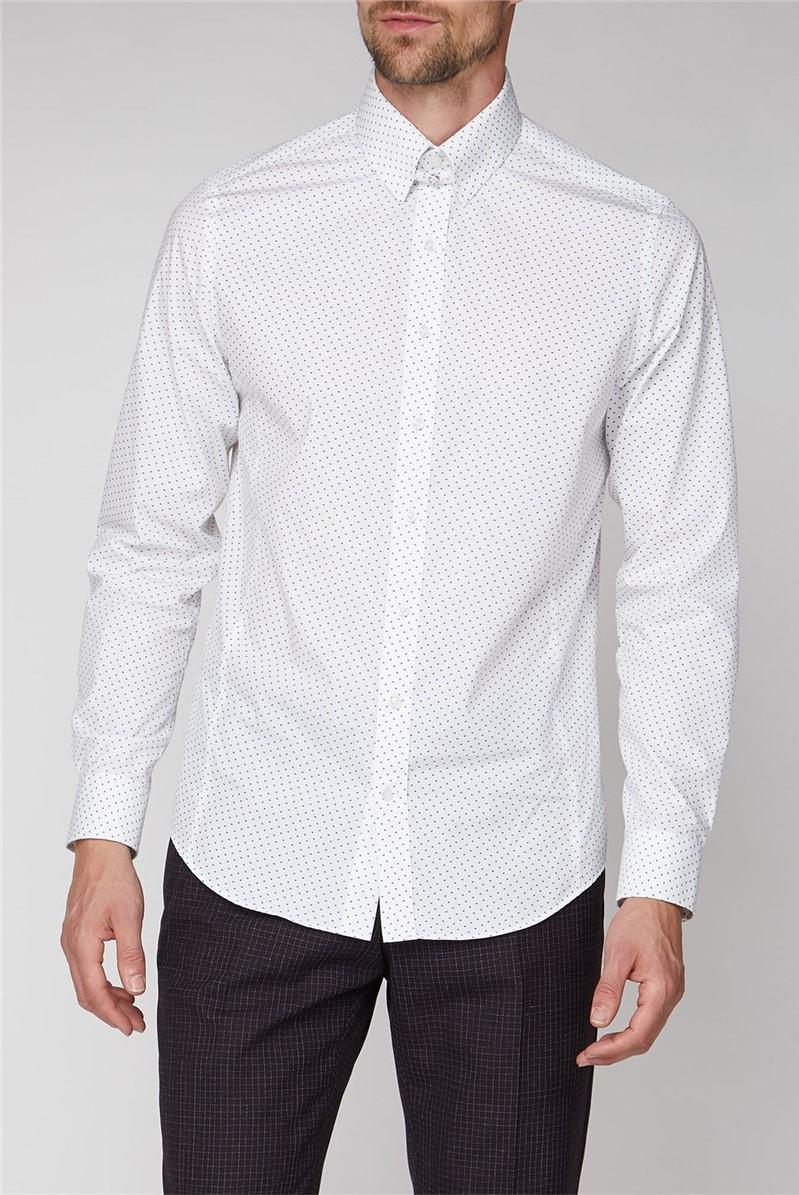Brit White Flower Print Shirt