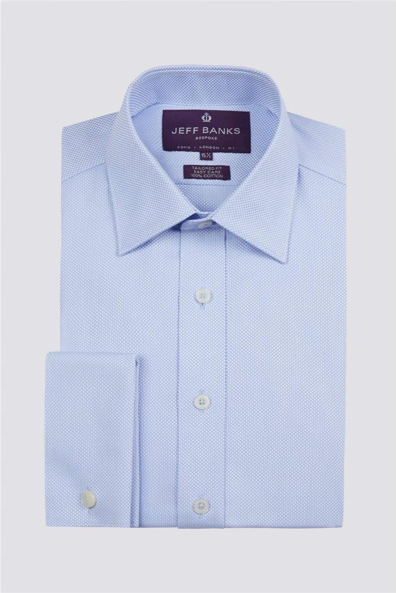 Bespoke Light Blue Texture Shirt