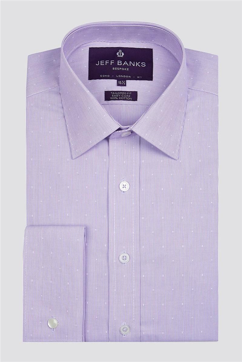 Bespoke Lilac Fine Dobby Stripe Shirt