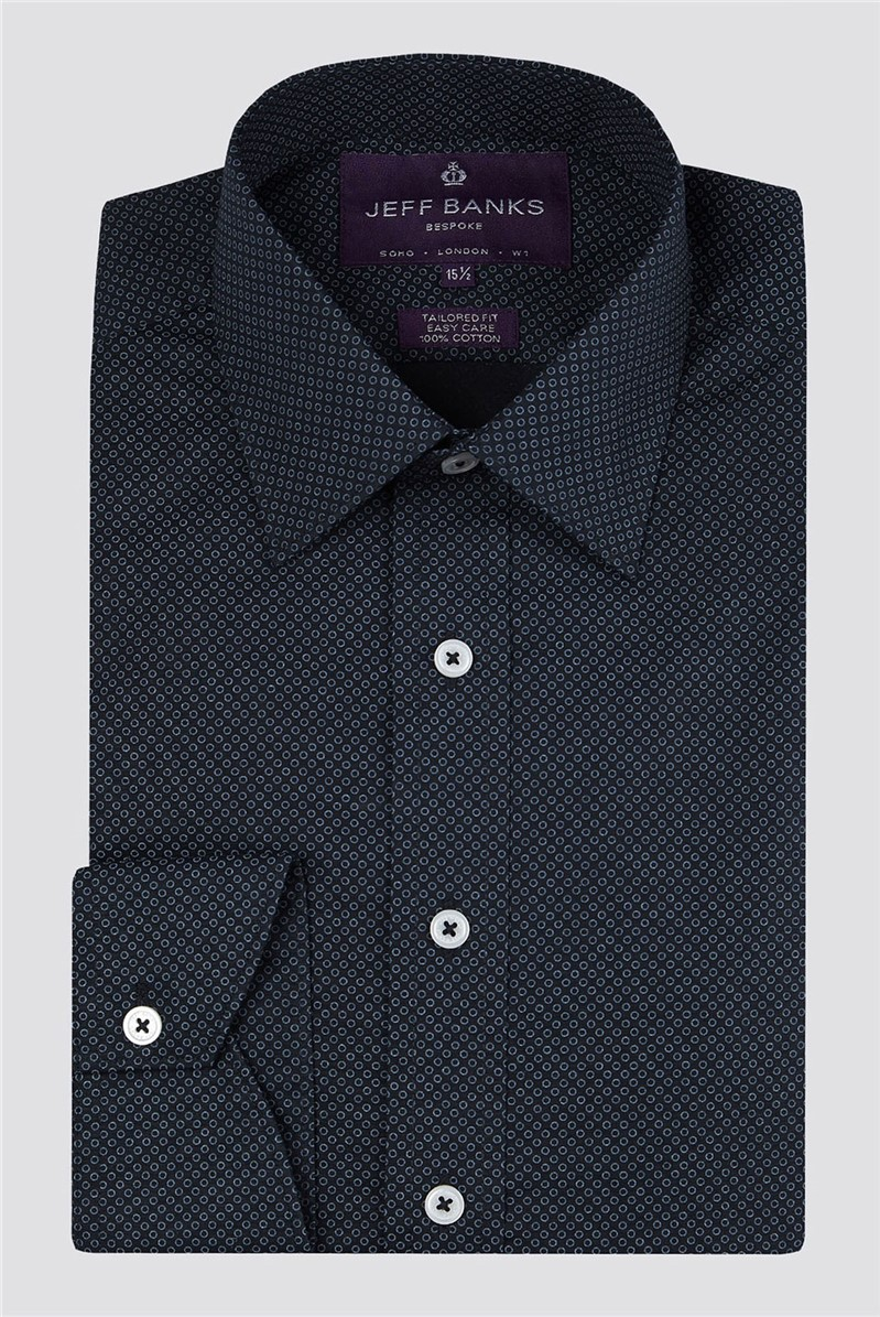 Bespoke Black Circles Print Shirt