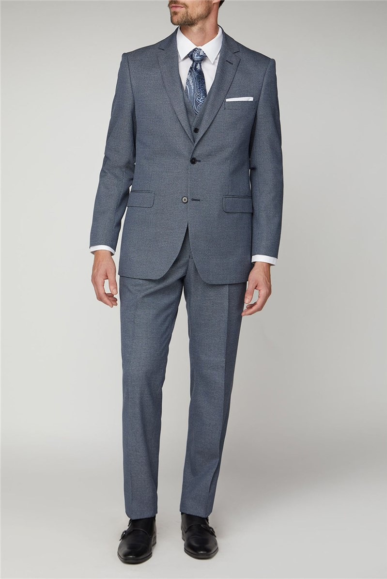 Navy Jaspe Regular Fit Suit