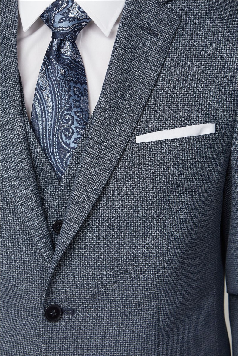 Navy Jaspe Regular Fit Suit