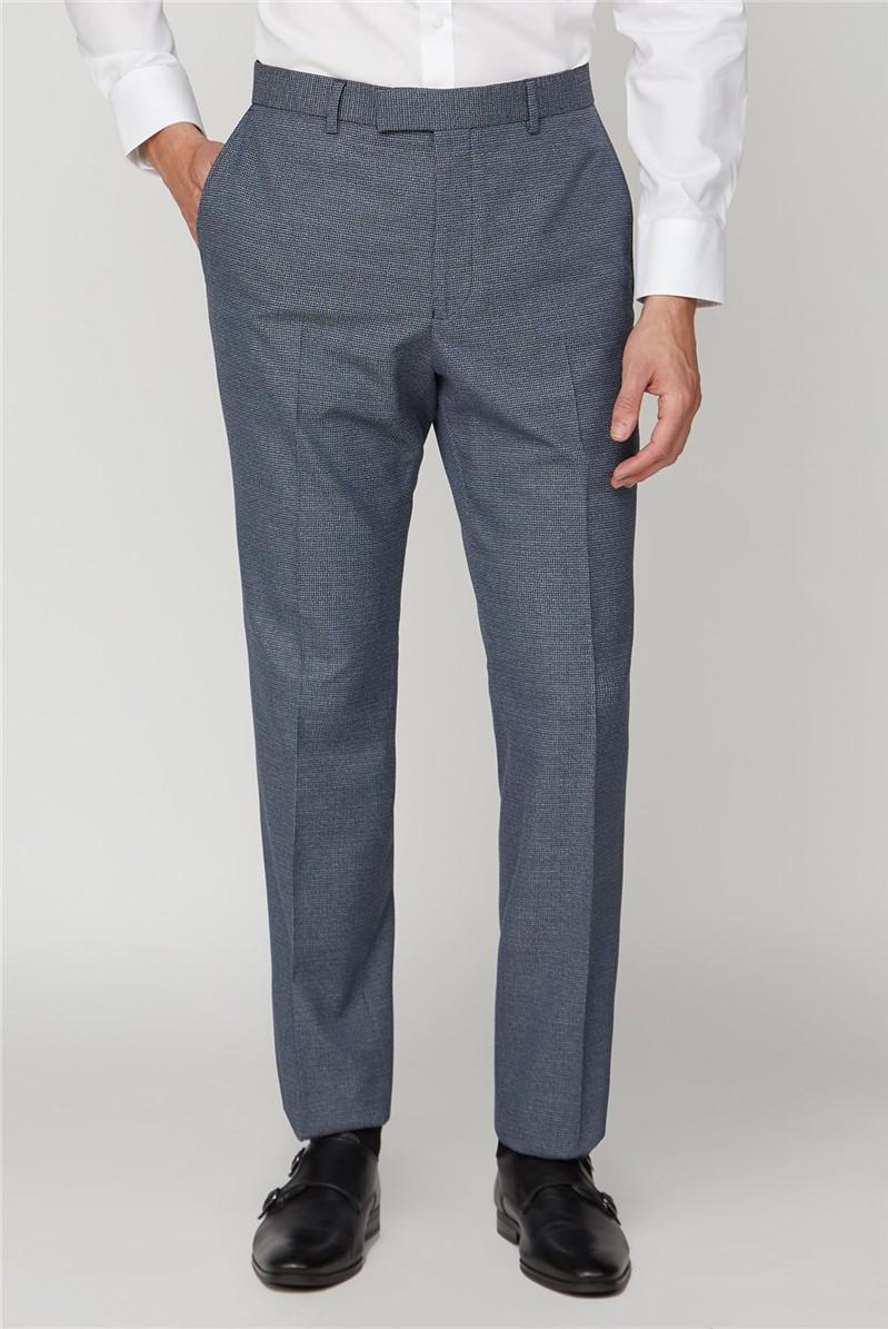 Navy Jaspe Regular Fit Trouser