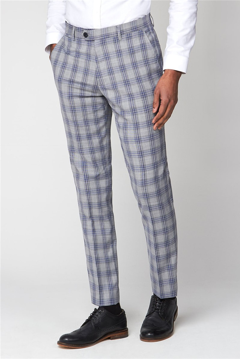 Jack Grey Check Slim Fit Trouser