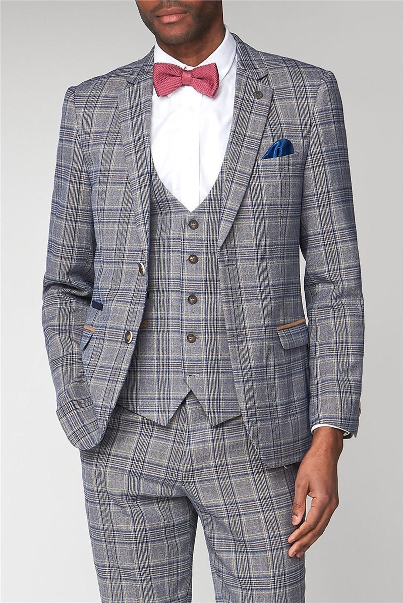 Marc Darcy Enzo Sky Stone Slim Fit Jacket