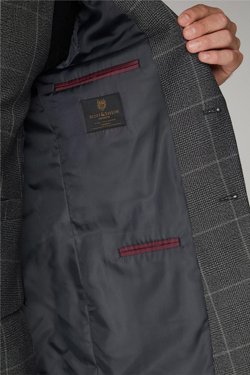 Grey Check Regular Fit Mens Suit