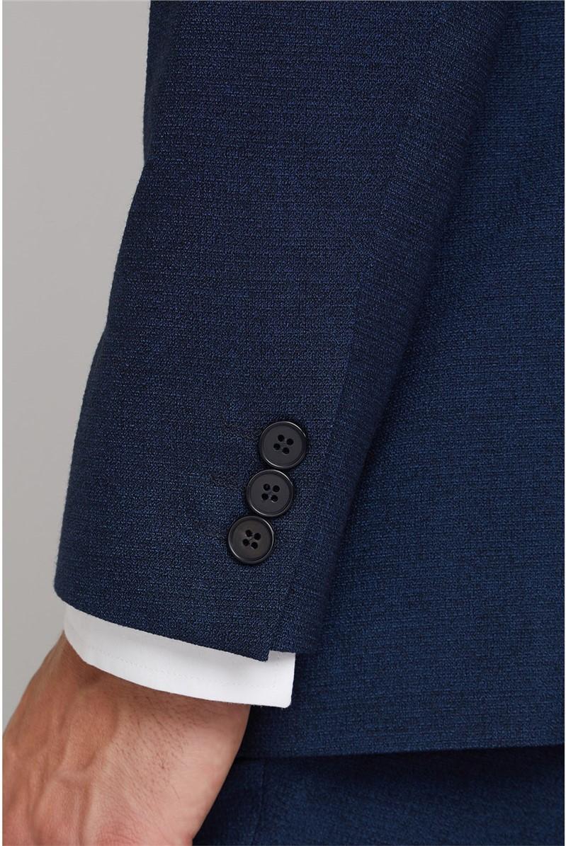 Navy Texture Regular Fit Waistcoat