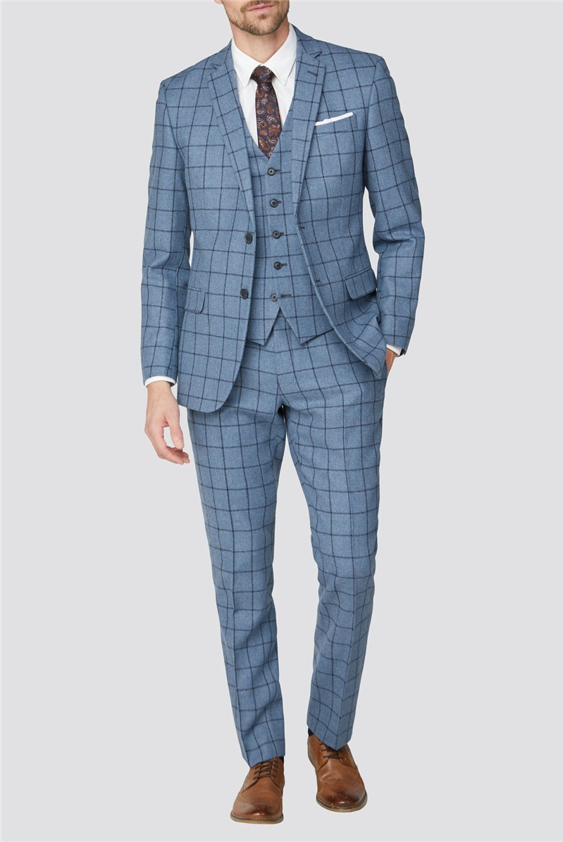 Blue Windowpane Heritage Tweed Jacket