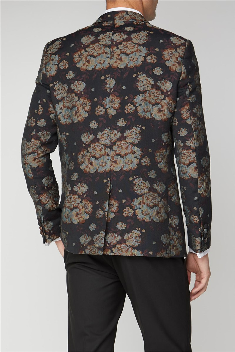 Black Floral Jacquard Jacket