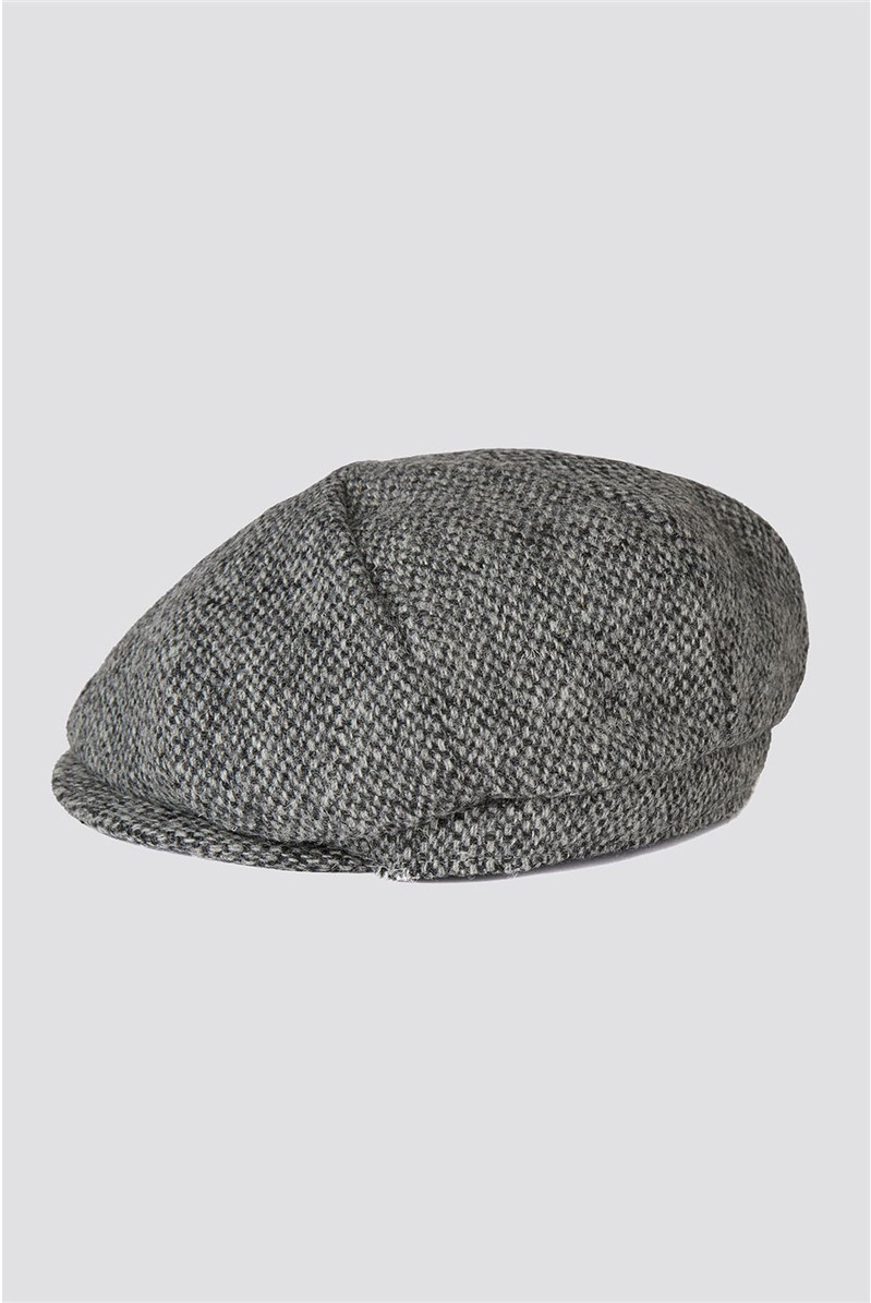 Harris Tweed Grey Donegal Baker Boy