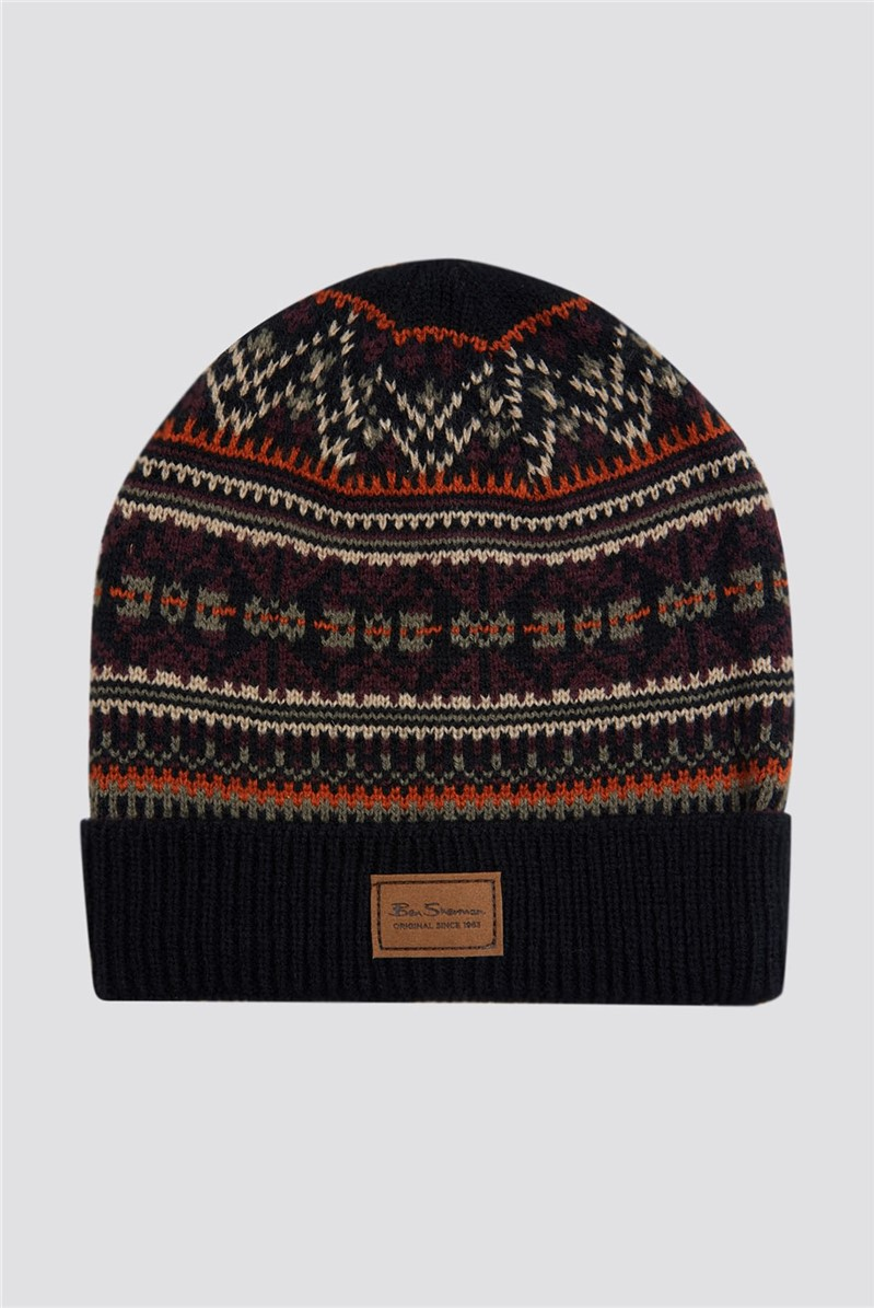 Ben Sherman Script Fairisle Knit Hat