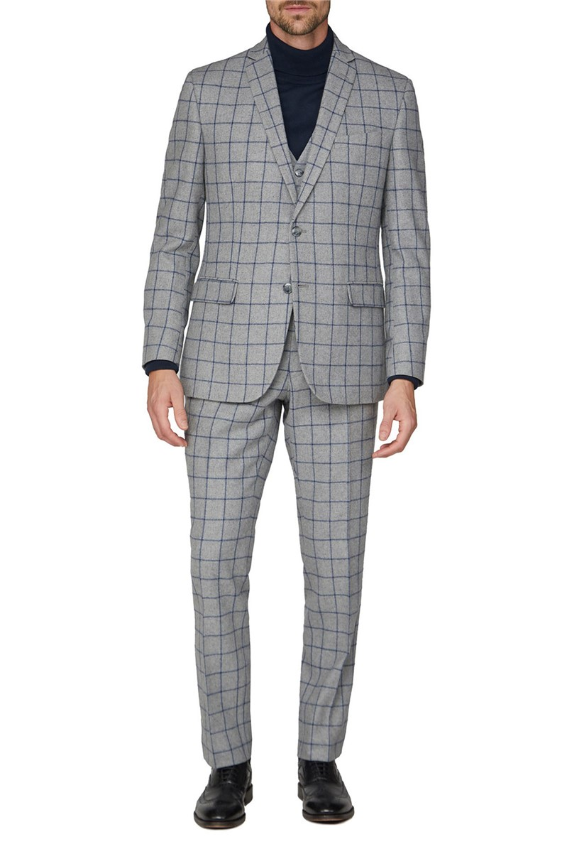 Grey Windowpane Heritage Tweed Suit