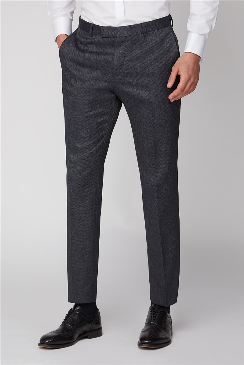 Charcoal Texture Slim Trouser