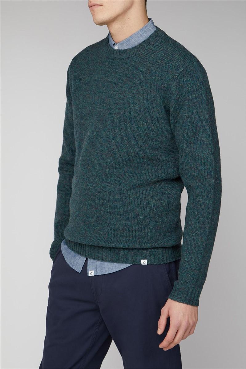Delten Shetland Wool Crew Knit Jumper