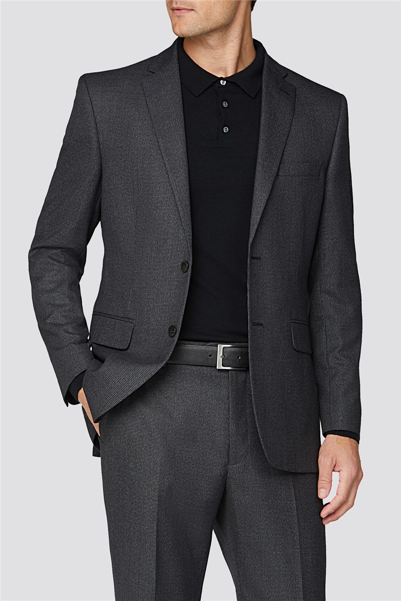 Charcoal Semi Plain Tailored Fit Two Piece Suit Suit Direct