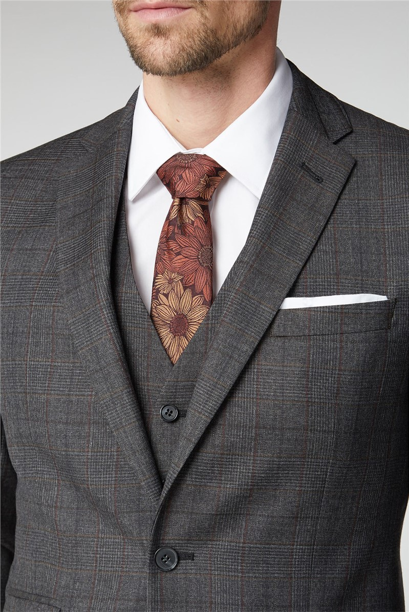 Grey Heritage Check Tailored Fit Suit