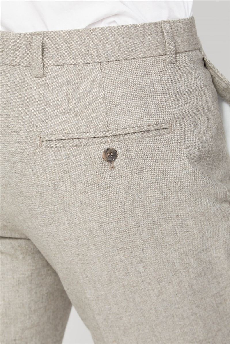 Sand Donegal Tailored Fit Suit Trouser