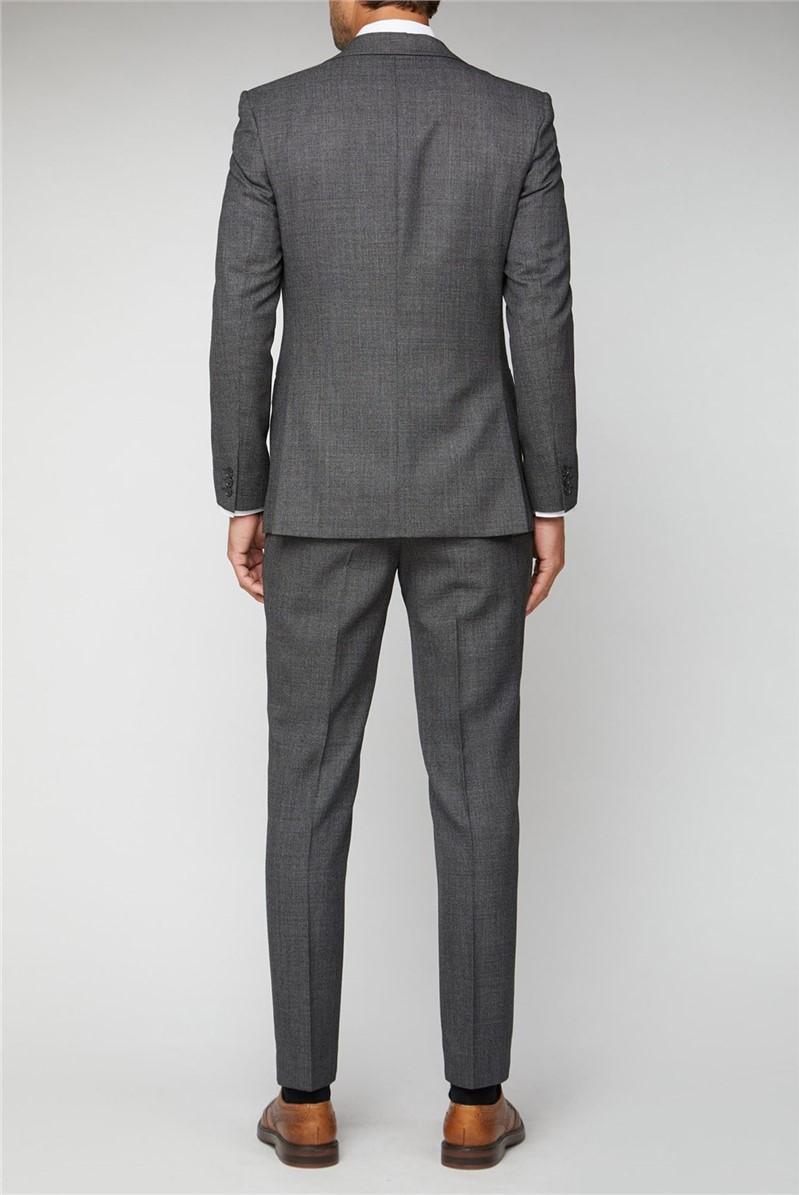 Salt and Pepper Birdseye Performance Regular Fit Suit Trousers