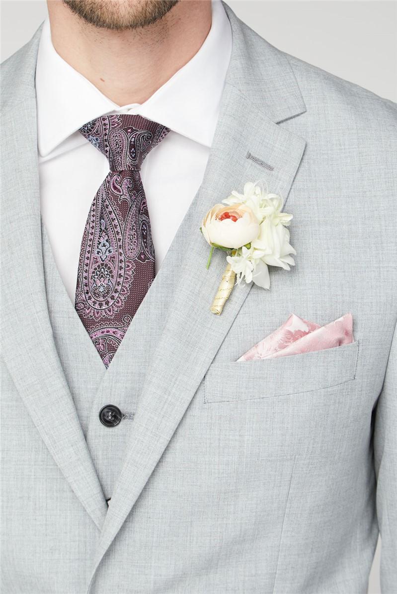 Light Grey Texture Regular Fit Suit