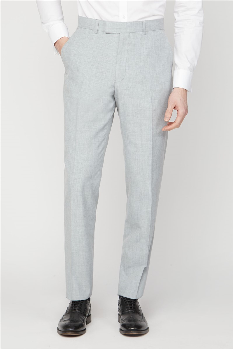 Occasions Light Grey Texture Regular Fit Suit Trousers