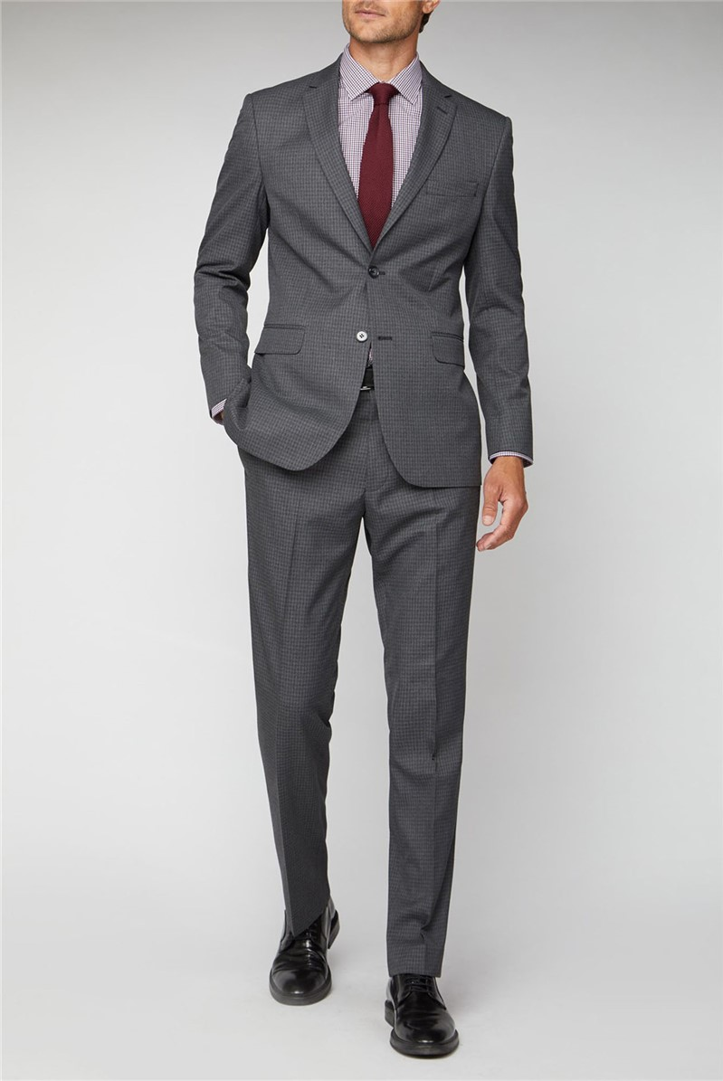 Charcoal Texture Regular Fit Suit
