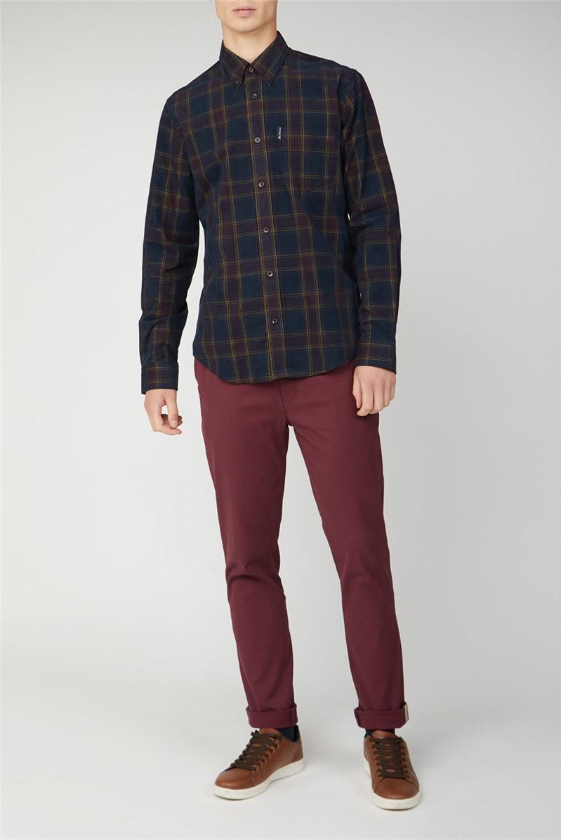 Checked Corduroy Shirt