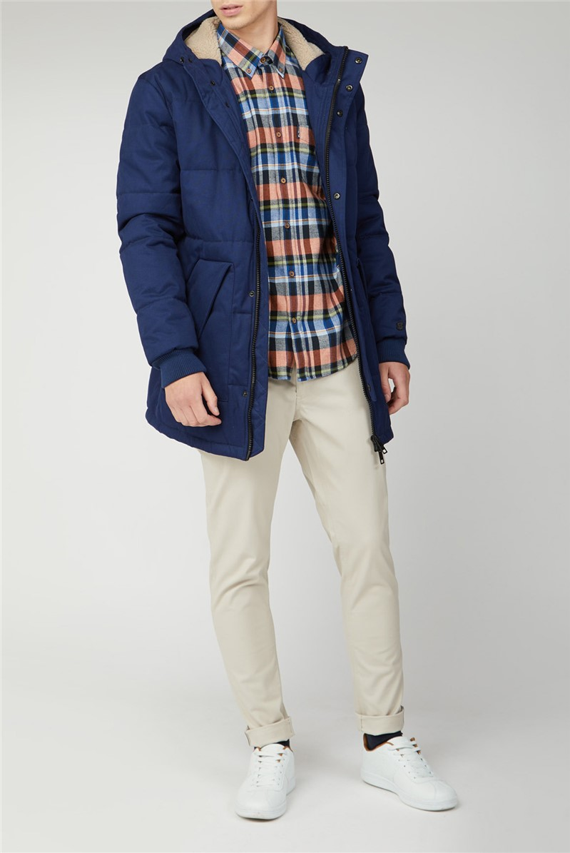 Brushed Twill Checked Shirt
