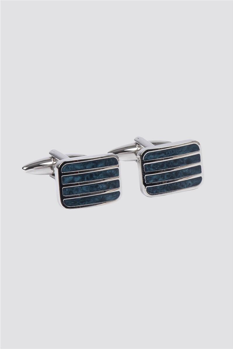 Navy Stripe Cufflinks