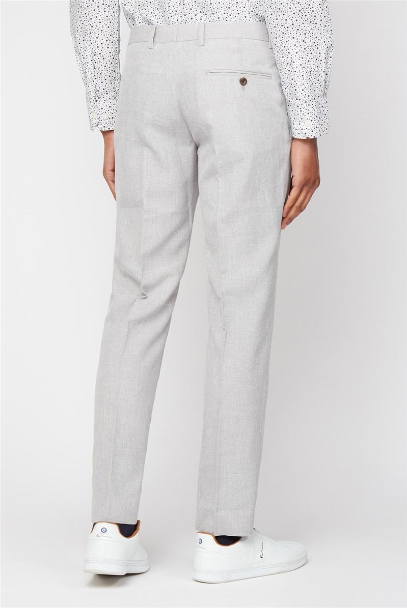 Cool Grey Texture Slim Fit Waistcoat