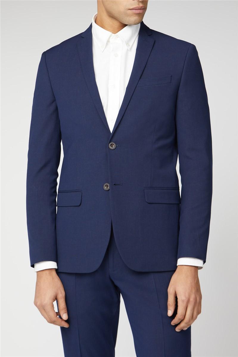 Blue Rust Fleck Slim Fit Suit Trouser