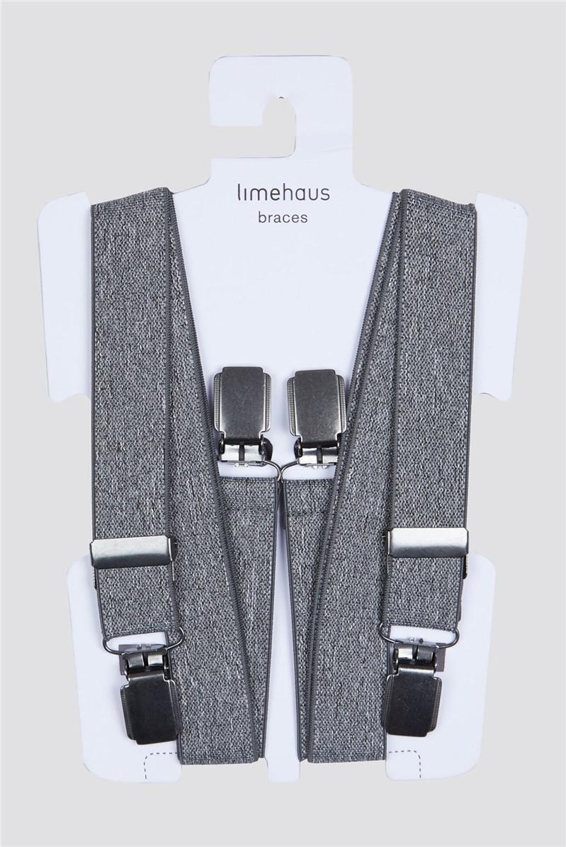 Grey Marl Braces