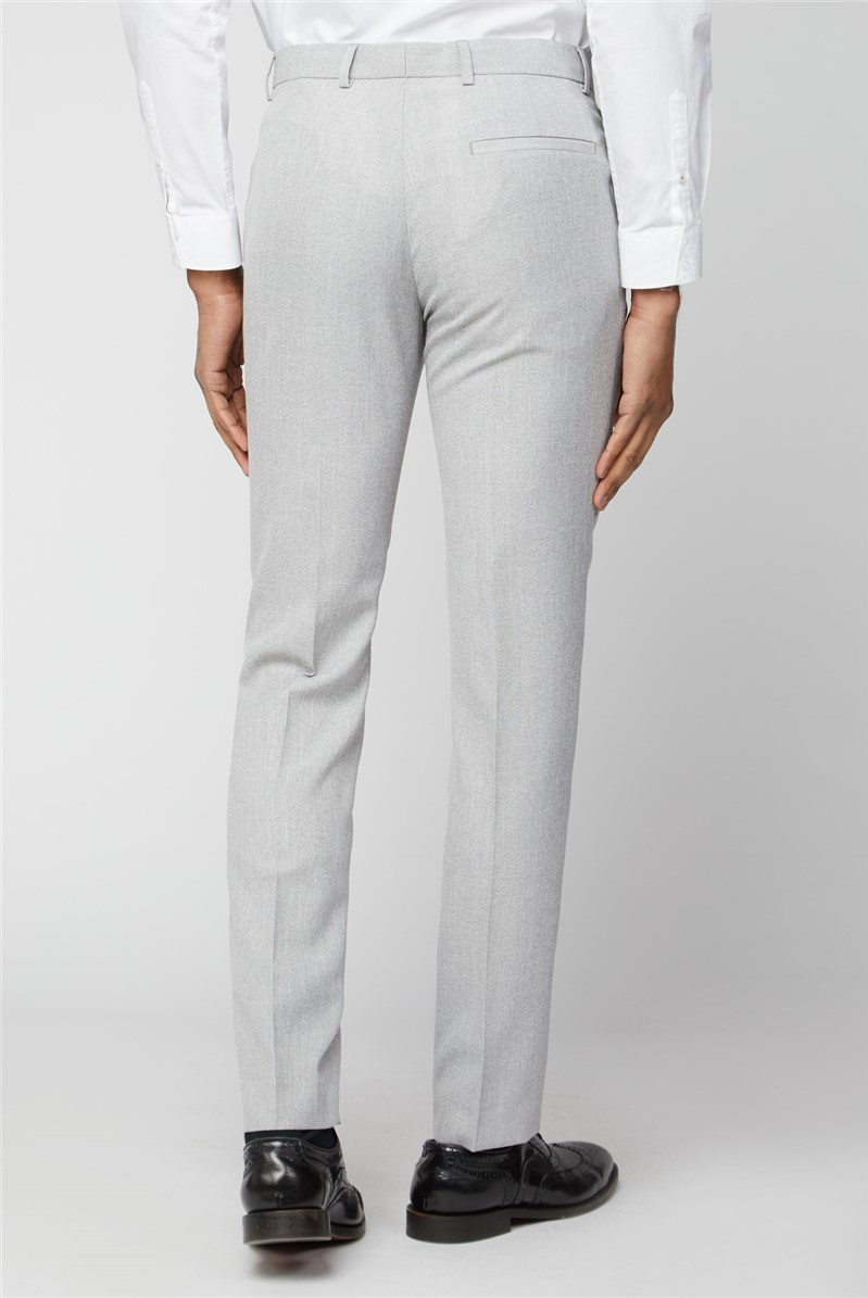 Ice Grey Slim Fit Suit Trousers